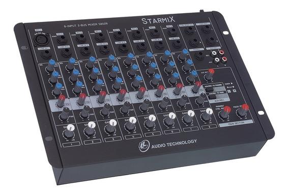 Mesa De Som Ll Audio 8 Canais Satrmix