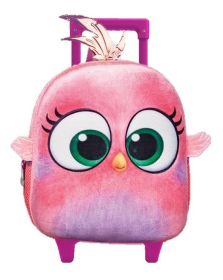 Mochila Hatchlings Angry Birds Kinder Con Carro Amp290