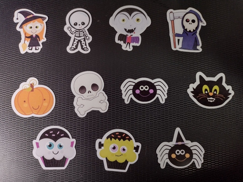 Imagem 1 de 3 de 100 Tags, Topper, Apliques Para Festas - Halloween Mod. 01