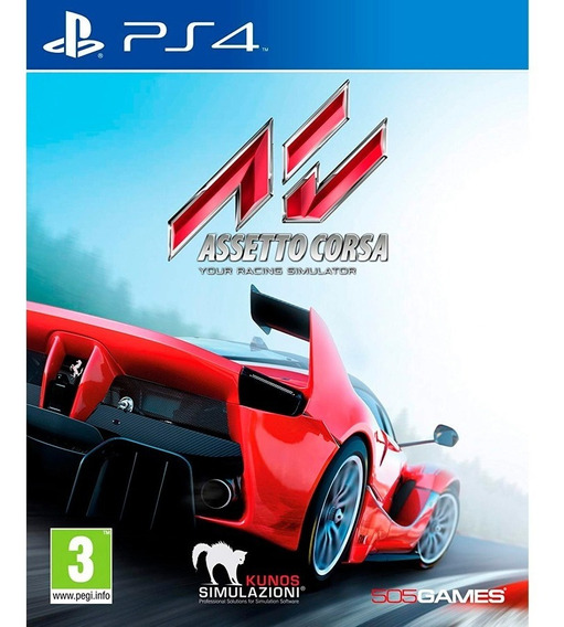 Game Ps4 Assetto Corsa - Original Novo Lacrado Mídia Física