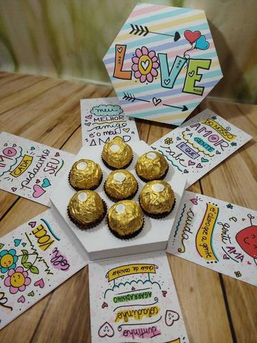 Imagem 1 de 4 de Caixa Explosão Dia Dos Namorados - Sem Chocolate