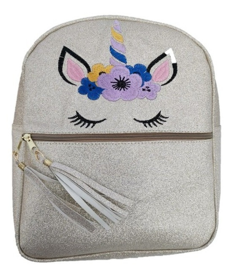 Bolsa Mochila Unicornio Backpack Con Brillos