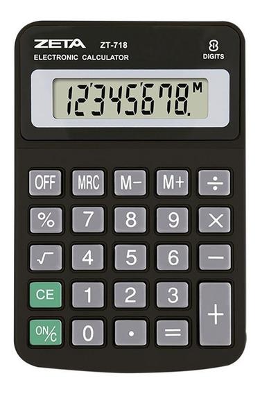 Calculadora De Mesa Zeta Zt718 8 Dígitos