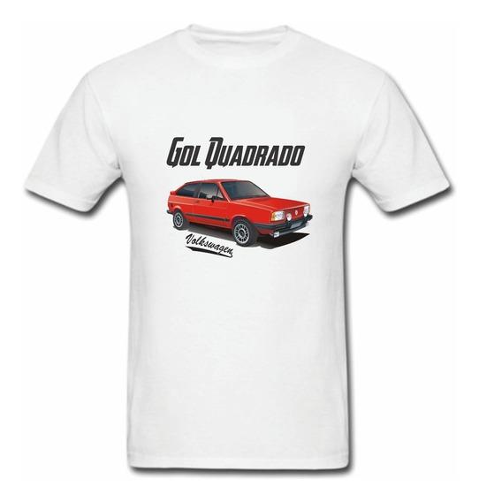 Camiseta Gol Quadrado Volks Vermelho Carro Antigo