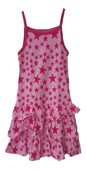 Vestido Para Niña Rosa Con Estrellas