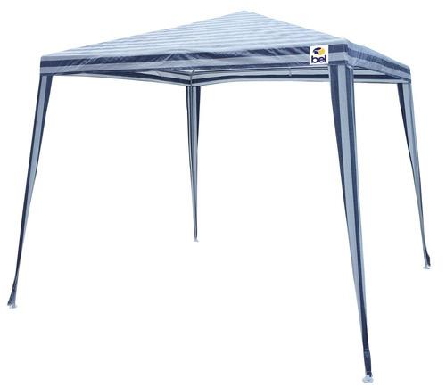Tenda Gazebo Belfix 3,00 X 3,00 Listrado (azul/ Branco)
