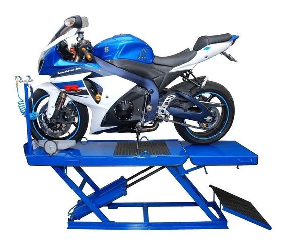 Elevador Pneumático Para Motos Cap. 350kg Com Ferramentas