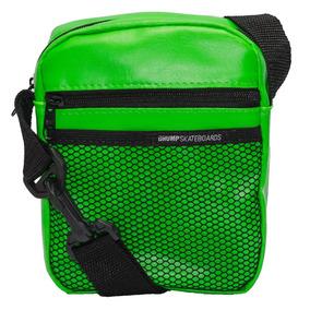 Mini Bolsa Shoulder Bag Drump Couro Verde Florescente