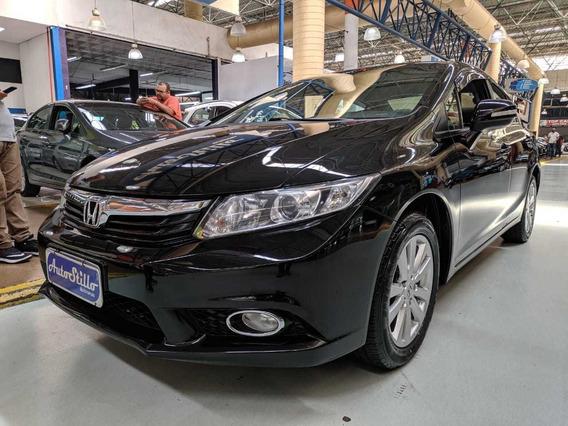 Honda Civic 2.0 Flex Lxr Preto 2014 (automático + Couro)
