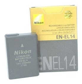 Bateria Nikon En-el14 D3100 D3200 D3300 D5200 D5100 P7000