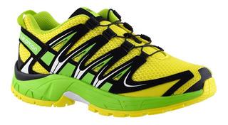 Zapatillas Salomon Xa Pro 3d J Niños Amarillo