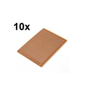 10 Unidades Pcb 5x7 Mini Protoboard Fenolite Ilhada -arduino