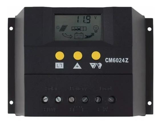 Controlador De Carga Para Painel Solar 60a Pwm 12e24v