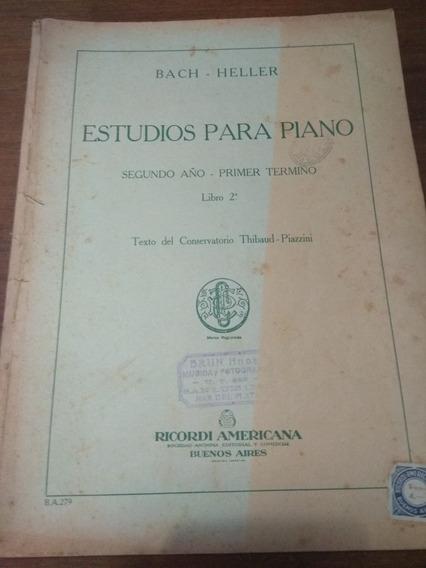 Bach Heller Estudios Para Piano, Seg Año Pri Termino Libro 2