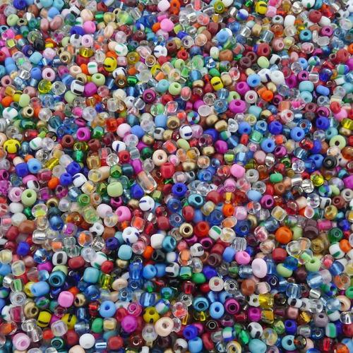 Miçanga De Vidro Para Bijuterias - Sortido - Aprox. 3100pçs
