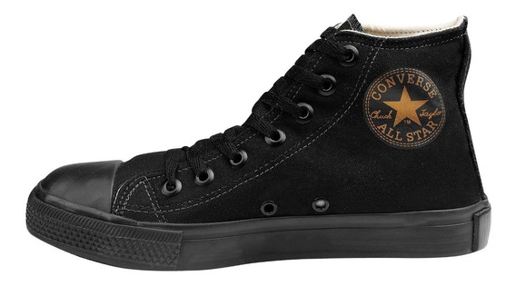 Tênis Converse All Star Cano Alto Preto Monocolor Black