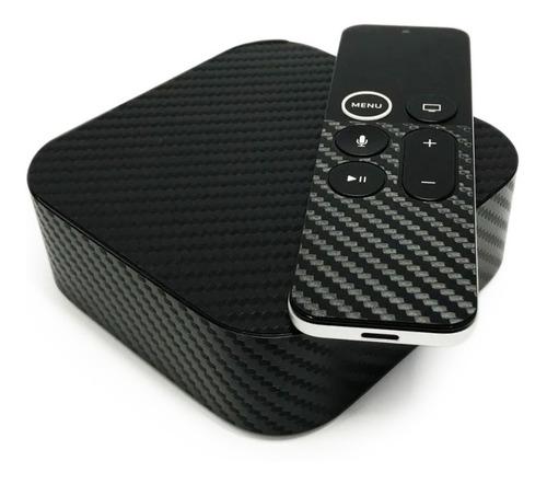 Imagen 1 de 8 de Apple Tv Skin Protector Fibra De Carbono