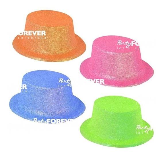 Sombrero Galera Purpurina X10