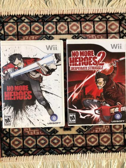 No More Heroes 1 + 2 P/ Wii E Wiiu - Original E Americano