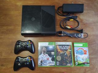 Xbox 360 Slim Modelo E Con 2 Joystick Y 2 Juegos Originales