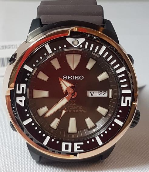 Relogio Seiko Prospex Tuna Baby Ouro Rose 2200 Pcs Para Mercado Asiatico Srpd14k1 Completo Na Caixa