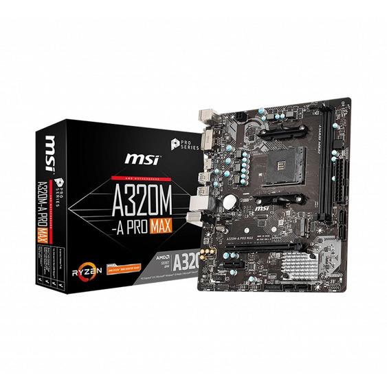 Motherboard Amd Msi A320m-a Pro Max Am4 Ryzen Ddr4 Hdmi Matx