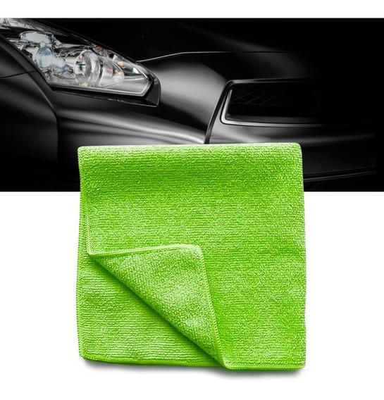 Pano Microfibra Automotiva Flanela Anti-risco Toalha Verde