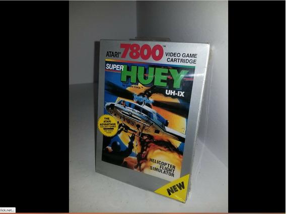 Atari Jogo Super Huey Helicóptero Simulador Lacrado De 1989