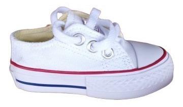 Zapatos Converse All-star Blancos Niño(as) Tienda Fisica !!