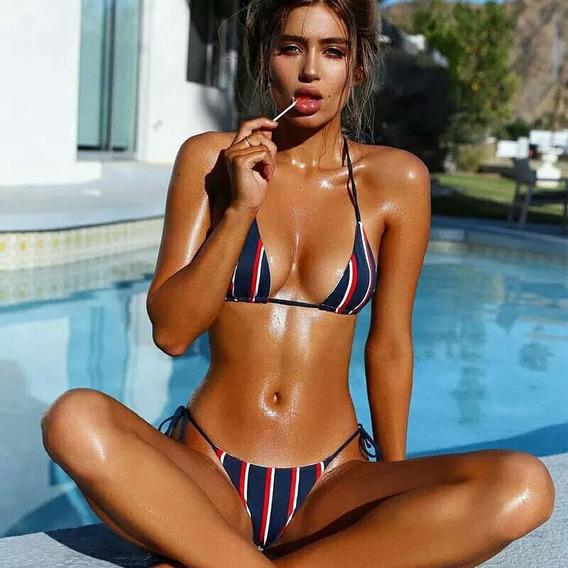 Traje Vestido De Baño Bikini Mujer Talla S Playa Vacaciones