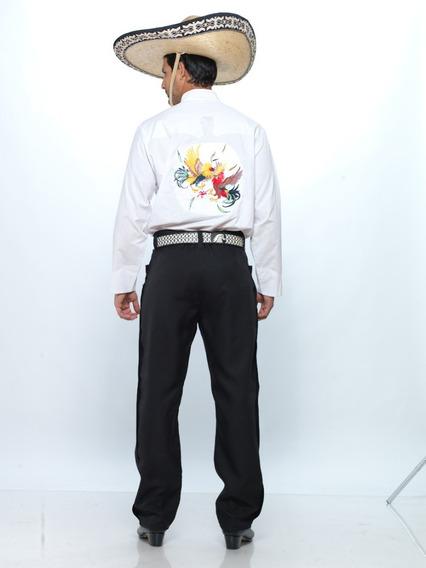 Camisa Pachuqueña Con Gallos De La Talla 2 A La 40