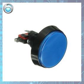 Botão Arcade Fliperama Iluminado 60mm Azul