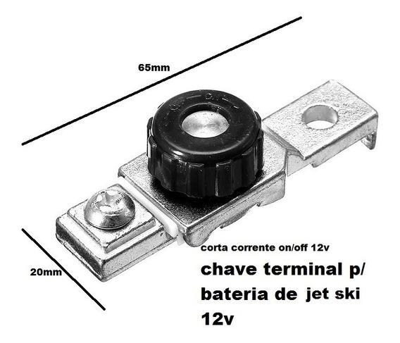 Chave Geral Corta Corrente Bateria 12v Motos Jet Ski