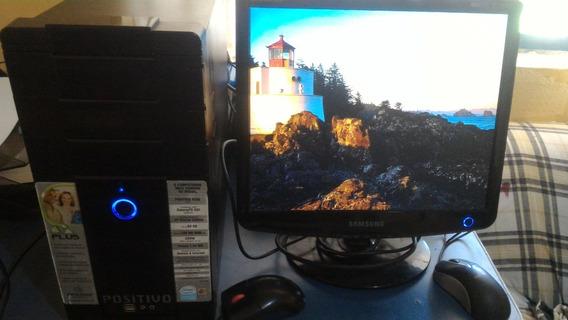 Barato! Computador Positivo Com Monitor Lcd E Impressora