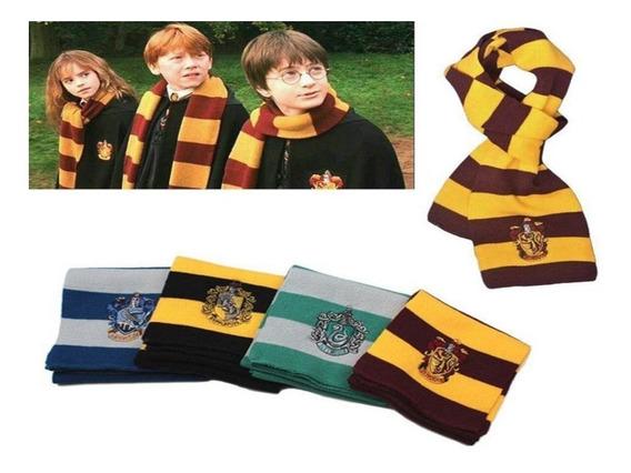 2 Bufandas Harry Potter Slytherin Hufflepuff + Envio Gratis