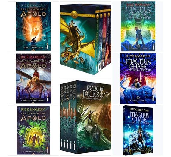 Kit Box Percy Jackson + Kit Livros Provações E Deuses - 16 L