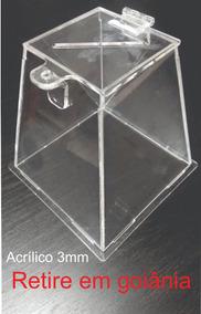 Urna Acrilico Goiania 20 Cm 3mm Cristal