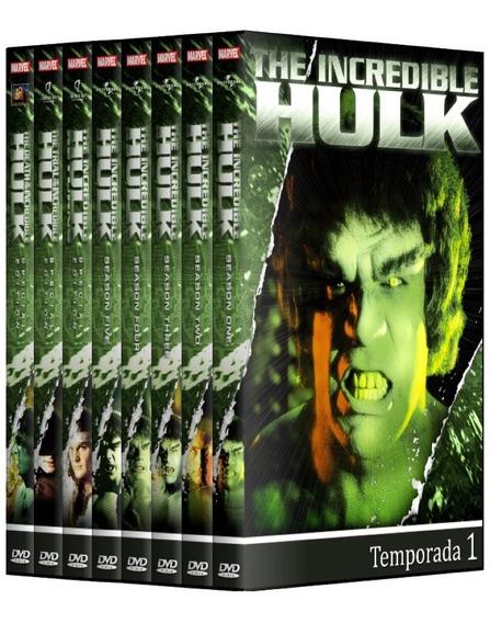 O Incrível Hulk 1978 - 1° A 5° Temp + Filmes Em Dvd