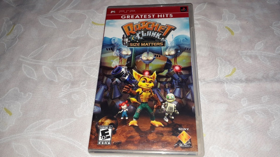 Ratchet Clank Size Maters Completo Original Psp Midia Fisica