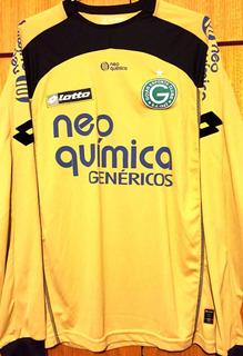 Camisa Goiás Usada Em Jogo Brasileirão 2012 Goleiro