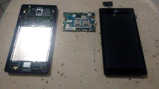 Celular Usado Sony Xperia C2304 Com Tela+placa+trazeira