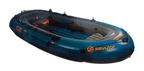 Bote De Pesca Inflable 340cm 6 Personas Para Motor Sevylor