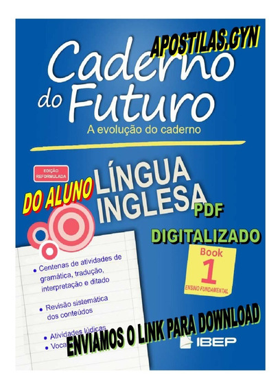 Caderno Do Futuro Ingles 6 Ano Book 01 Do Aluno
