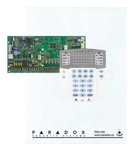 Kit Central Alarma 8x2 Zonas Paradox Sp6000 + Teclado K32+