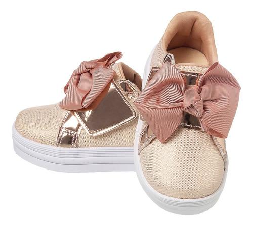 Imagem 1 de 6 de Tenis Infantil Feminino Sapato Menina Confortável Moda Bebê