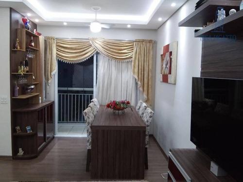 Apartamento Com 3 Dormitórios À Venda, 69 M² Por R$ 490.000,00 - Morumbi - Paulínia/sp - Ap0843