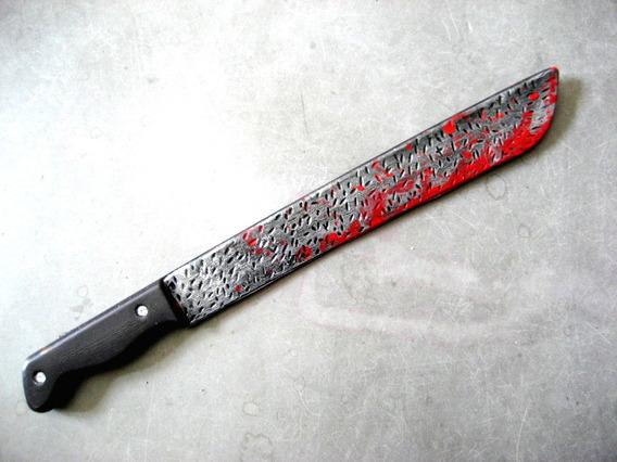Machete Cuchillo Plástico C/ Sangre Halloween Disfraz Chuky