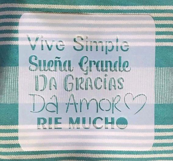 Estencil Vive Simple.