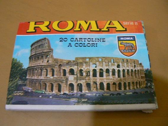 Lote De 20 Postales A Color De Roma.