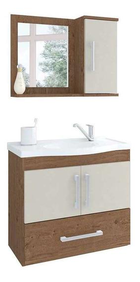Armário De Banheiro Pequeno Atenas 65cm